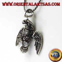 pendant in three-dimensional Mobile Eagle silver