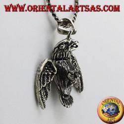 pendant in three-dimensional Mobile Eagle silver