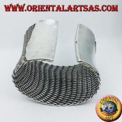Armband aus geflochtenem Silber zum Slave