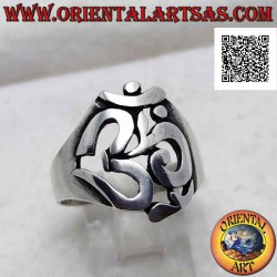 Smooth silver ring shaped...