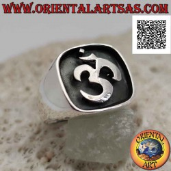 Silver ring with Sanskrit...