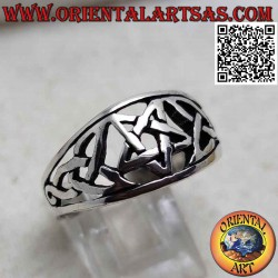 Silver ring with perforated...