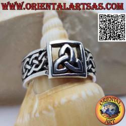 Серебряное кольцо с ажурным...