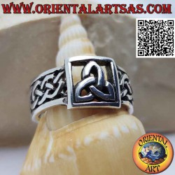 Silver ring with openwork...