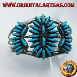pulsera de plata con turquesa del nativo americano
