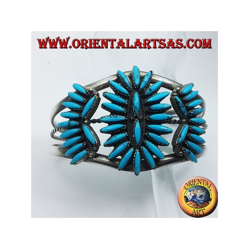 bracciale con turchesi Nativi americani in argento