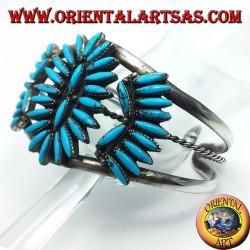 bracelet en argent avec turquoise Native American