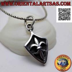 Silver pendant, rhomboid...