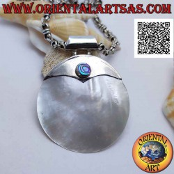 Silver pendant with large...