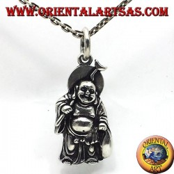 silver pendant, buddha wealth