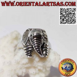 Silver ring with elephant...