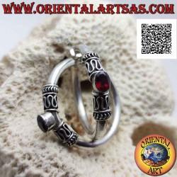 Silver hoop earrings with...