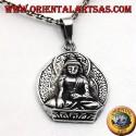 ciondolo in argento, Buddha sul fior di loto