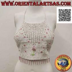Top A-line au crochet blanc...