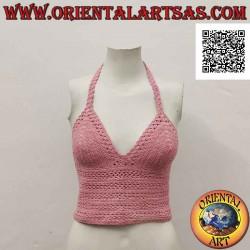 Bright pink crochet top...