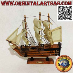 Scale model of the wooden...