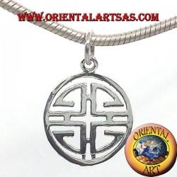 silver pendant, Shou