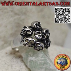 Silver ring with circle of...