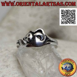Smooth silver ring in the...