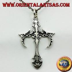 pendentif croix gothique en argent