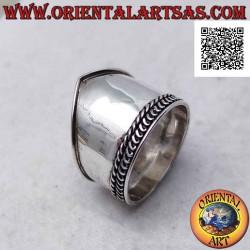 Breitband Silberring mit...