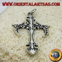 ciondolo croce gotica in argento