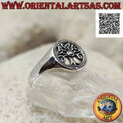 Silver ring with tree of...