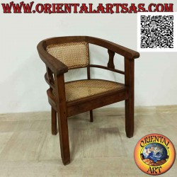 Round armchair in teak wood...