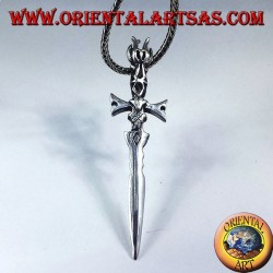 Colgante en plata espada medieval