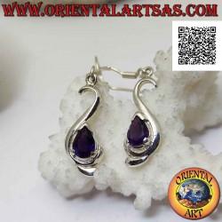 Silver leverback earrings,...