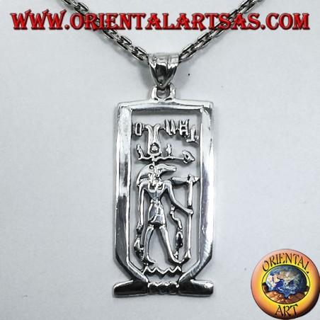 ciondolo in argento Anubi