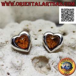 Silver lobe earrings with...