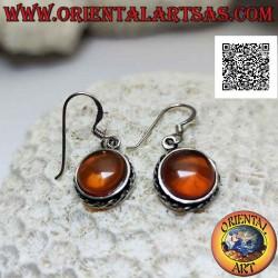 Silver pendant earrings...