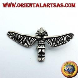 Totem Incas pendentif en argent