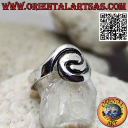 Smooth spiral silver ring...