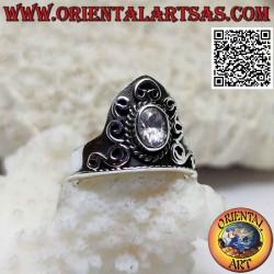 Anello in argento a corona...