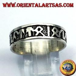 Ring Silber Band mit keltischen Runen