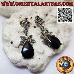 Silver earrings with drop...