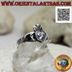 Anello in argento Claddagh...
