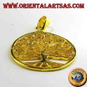 Klimt Tree of Life pendant in gold plated silver