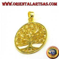 Klimt Arbre de vie pendentif en argent doré