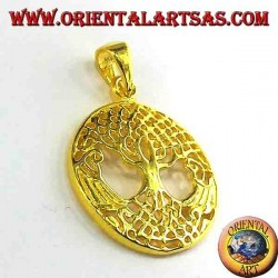 Tree of Life pendant silver gold plated