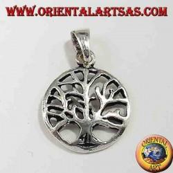 Baum des Lebens Anhänger Silber klein