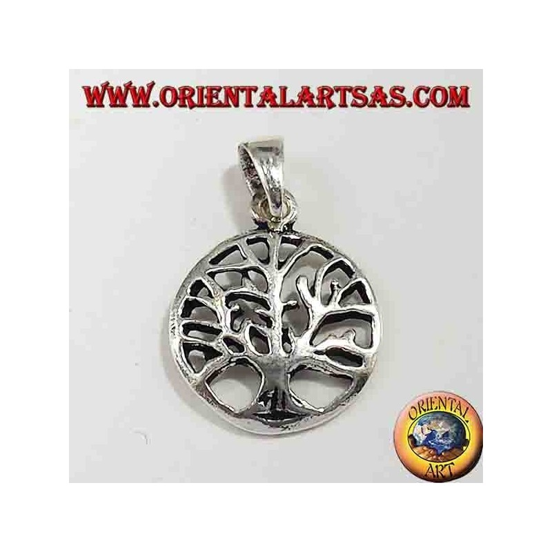 Árbol de la vida pendiente de plata pequeña