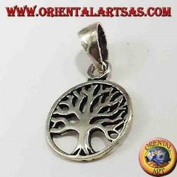 pendentif en argent, petit arbre de vie