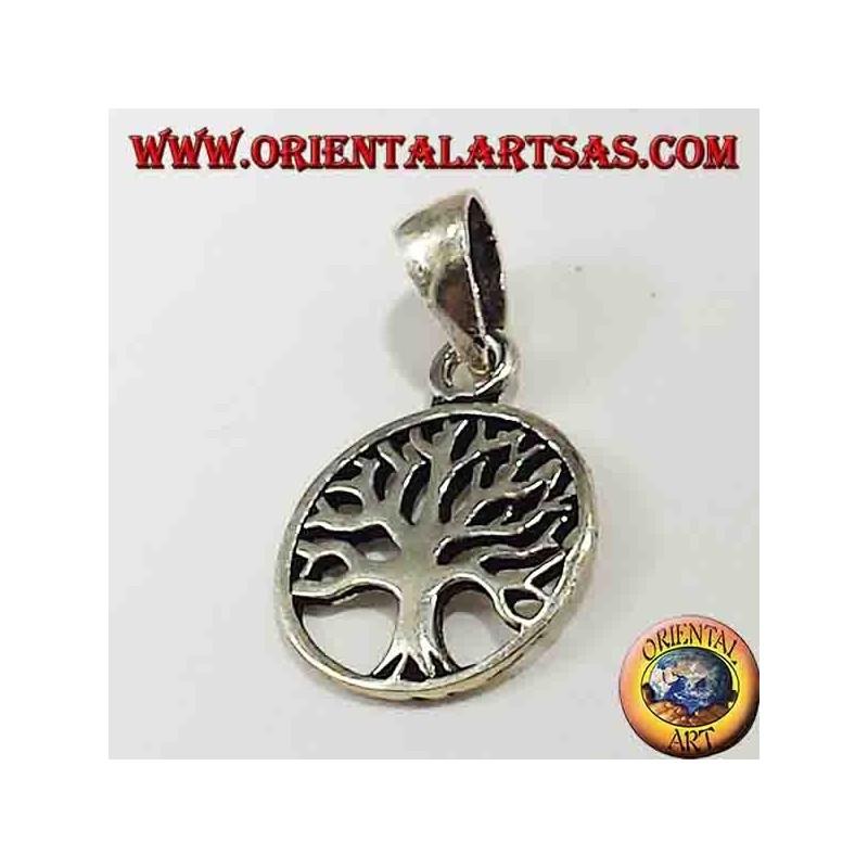 colgante de plata, pequeño árbol de la vida