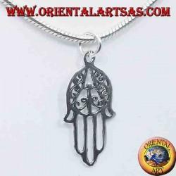 silver pendant, hand of Fatima