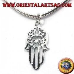ciondolo in argento , mano di Fatima