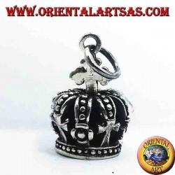 Krone Anhänger in Silber