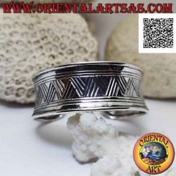 Wide concave 925 ‰ silver...